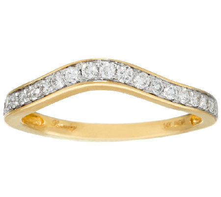 Michael Beaudry 3/10 cttw Curved Band Ring, 14K Gold