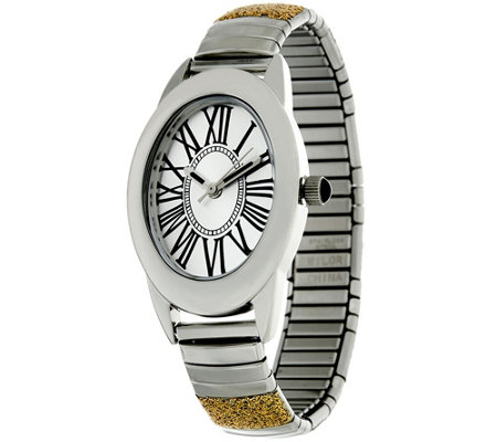 Stainless Steel Stretch Glitter Watch