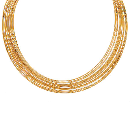 Bronze Multi-row Polished Collar Necklace by Bronzo Italia