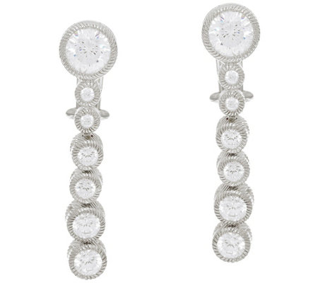 Judith Ripka Sterling Diamonique Graduated Drop Earrings