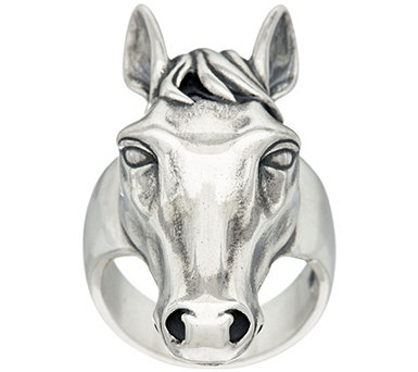 Sterling Silver Horse Design Ring by American West - J329189