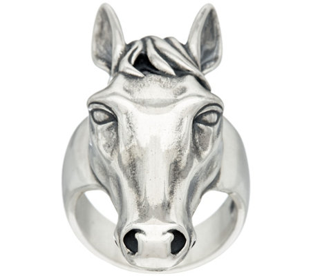 Sterling Silver Horse Design Ring by American West