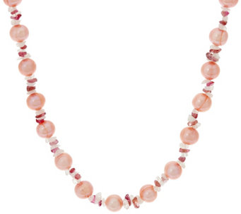 "Honora Cultured Pearl 8.0mm & Gemstone 18"" Sterling Necklace - J329389"