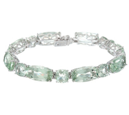 "Colors of Quartz 8"" Sterling Silver Tennis Bracelet 59.00 cttw"