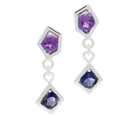 Franco P Sterling Stars 1.45 cttw Gemstone Earrings
