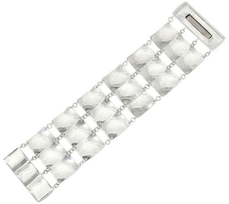 RLM White Bronze Moving Squares Wide Bracelet
