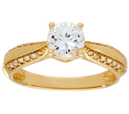 """As Is"" Diamonique 1.00 ct Solitaire Ring, 14K Gold"