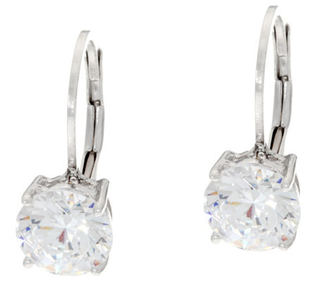 Diamonique 3.00 cttw Leverback Earrings, Sterling