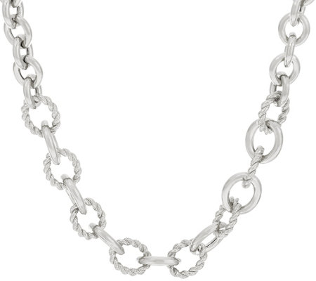 """As Is"" Judith Ripka Sterling 18"" Verona Oval Link Necklace 66.0g"