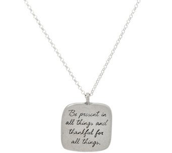 "Maya Angelou ""Be Present"" Sterling Quote Pendant by Dogeared - J333789"