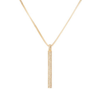 """As Is"" H by Halston 36"" Necklace with Pave Pendant - J335289"