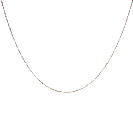 "18"" Singapore Chocolate Gold Necklace, 14K"