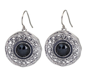 Or Paz Sterling Round Onyx Dangle Earrings - J338289