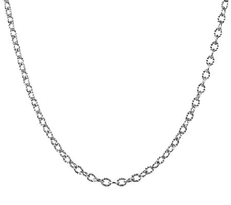 "Sterling 32"" Curb Link Chain Necklace, by American West"