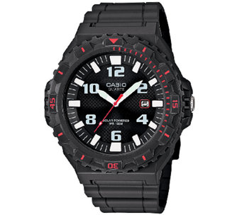 Casio Men's Black and Red-Accented Analog SportWatch - J339289