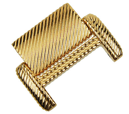 Judith Ripka Stainless Textured Watch ExtenderClasp