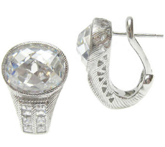 Judith Ripka Sterling 12.60cttw Diamonique Earrings - J339989