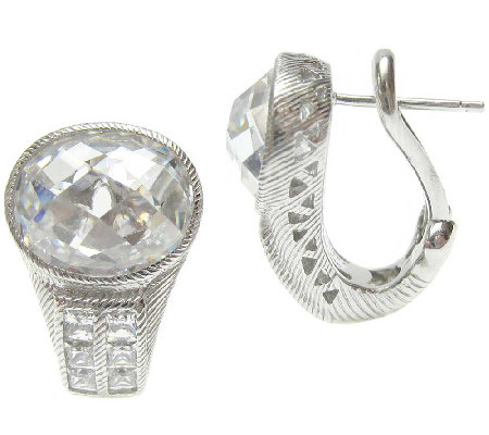 Judith Ripka Sterling 12.60cttw Diamonique Earrings