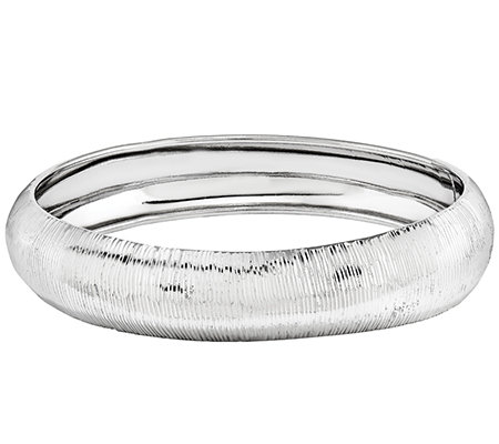 Sterling Diamond-Cut Slip-On Bangle