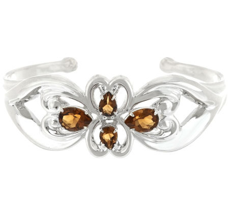 Carolyn Pollack Sterling 3.90ct Cognac Citrine Cuff