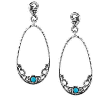 Carolyn Pollack Sleeping Beauty Turquoise Dangle Earrings