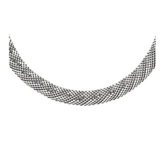 "Sterling Silver Mesh 17-1/2"" Necklace b y Silver Style - J342089"