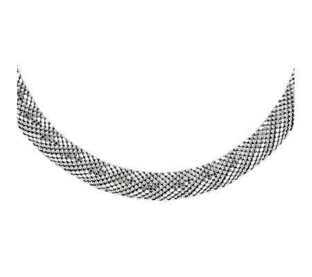 "Sterling Silver Mesh 17-1/2"" Necklace b y Silver Style"