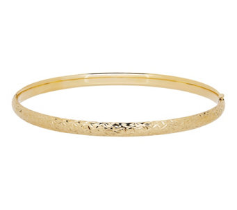 "EternaGold 8"" Crystal Cut Bangle, 14K - J344689"