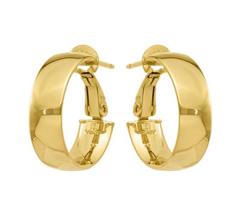 14K Gold Polished Hoop Earrings - J374789