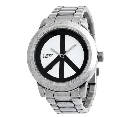Lucky Brand Women's Peace Sign Beige Strap Watch - Free ... |Lucky Brand Peace Watch