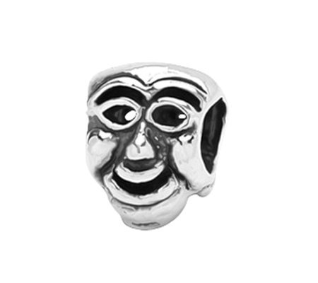 Prerogatives Sterling Comedy Mask Bead
