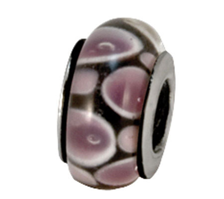Prerogatives Sterling Purple/Black Glass Bead