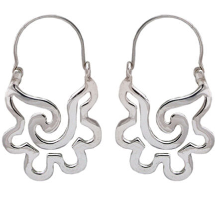 Novica Artisan Crafted Sterling Aztec SeashellDangle Earrings