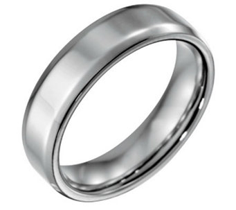 Forza Men's 6mm Steel w/ Beveled EdgePolished Ring - J109490