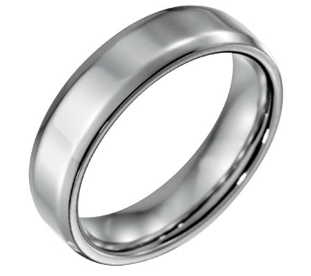 Forza Men's 6mm Steel w/ Beveled EdgePolished Ring