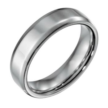 Forza Men's 6mm Steel w/ Beveled EdgePolished Ring