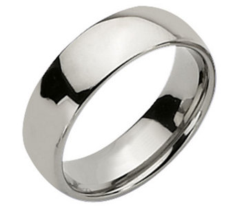 Titanium 7mm Polished Ring - J109990