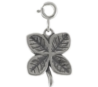 Sterling Four Leaf Clover Charm - J113590