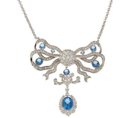 Smithsonian Simulated Cullinan Blue Diamond Necklace