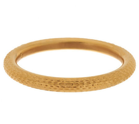 Oro Nuovo Large Textured Diamond Cut Round Bangle 14K