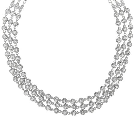 Judith Ripka Sterling 118 Facet Diamonique Necklace
