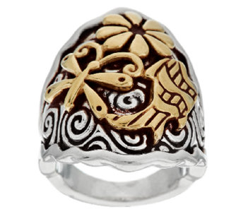 Jody Naranjo Sterling/Brass Spirit Ring - J290990