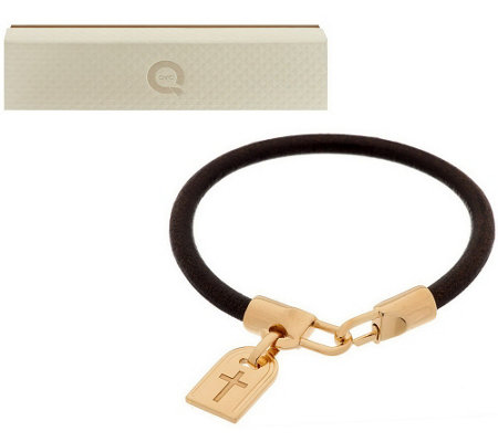 """As Is"" Bronzo Italia Bronze Symbol Tag Bracelet"