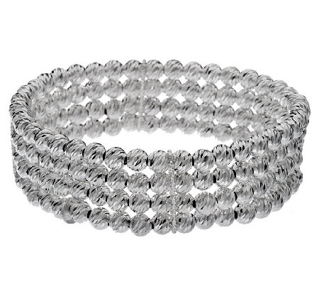 """As Is"" VicenzaSilver Sterling Avg. Multi-Strand Bead Bracelet"