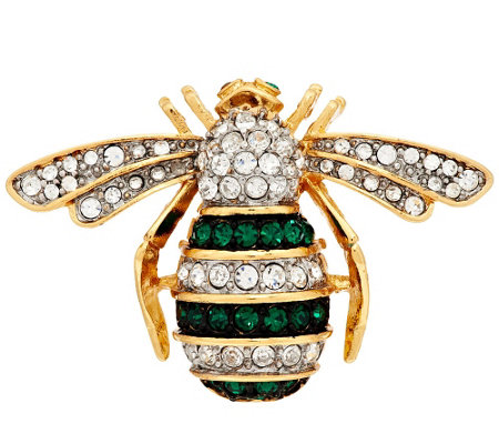 Joan Rivers Jeweled Estate Style Bee Pin
