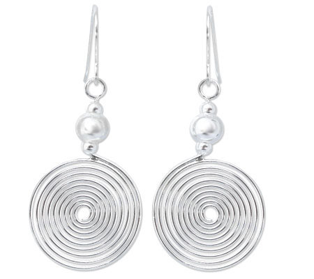"Novica Artisan Crafted Sterling ""Chic Spiral"" Dangle Earrings"