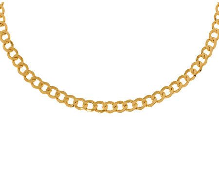 "Milor 20"" Polished Curb Link Necklace, 14K Gold13.10g"