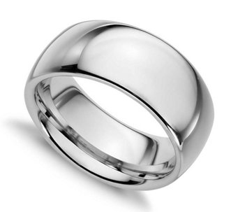 Sterling Silver 10MM Silk Fit Unisex Wedding Band Ring - J309990