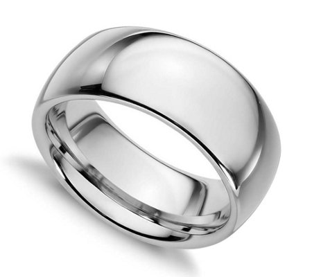 Sterling Silver 10MM Silk Fit Unisex Wedding Band Ring