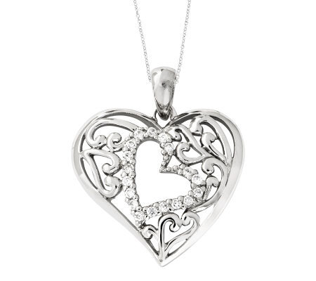 "Sentimental Expressions Sterling 18"" Forever Heart Necklace"